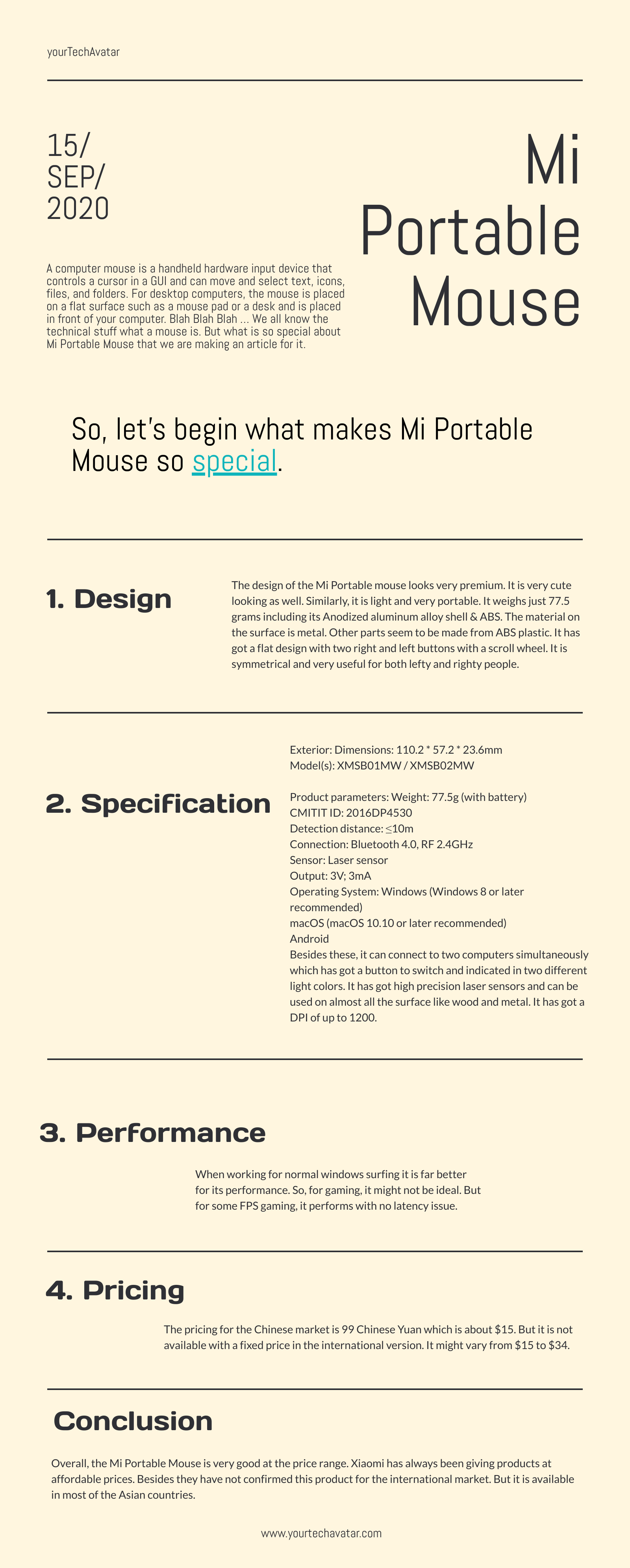 Infographic for Mi Portable Mouse (2)