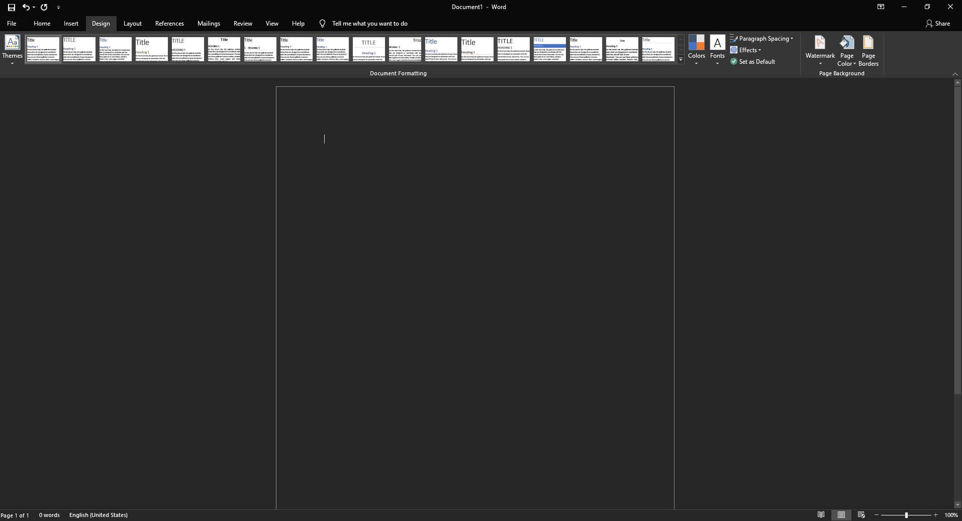 enable Dark Mode in Office finally