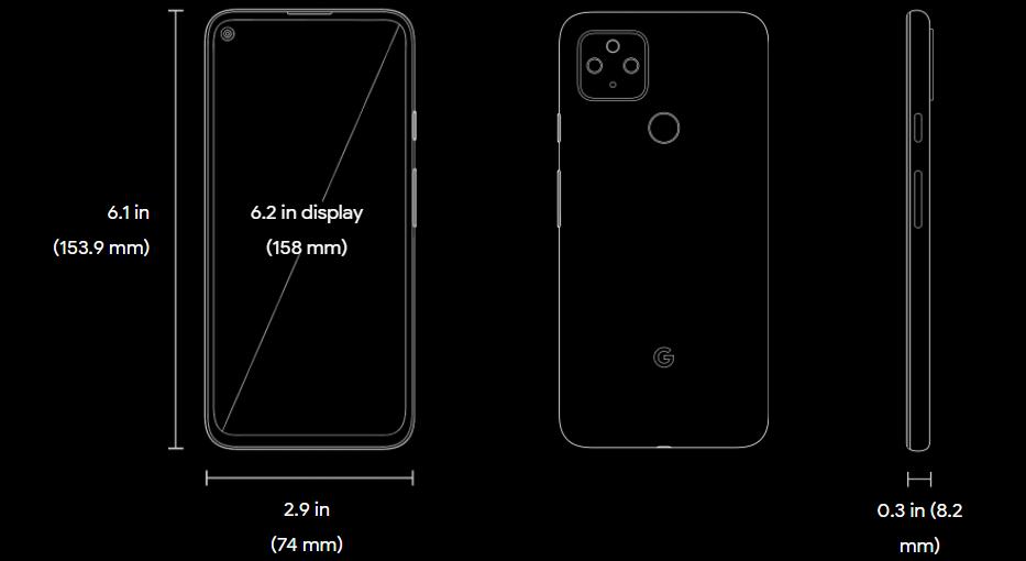 Google Pixel 4a 5G body