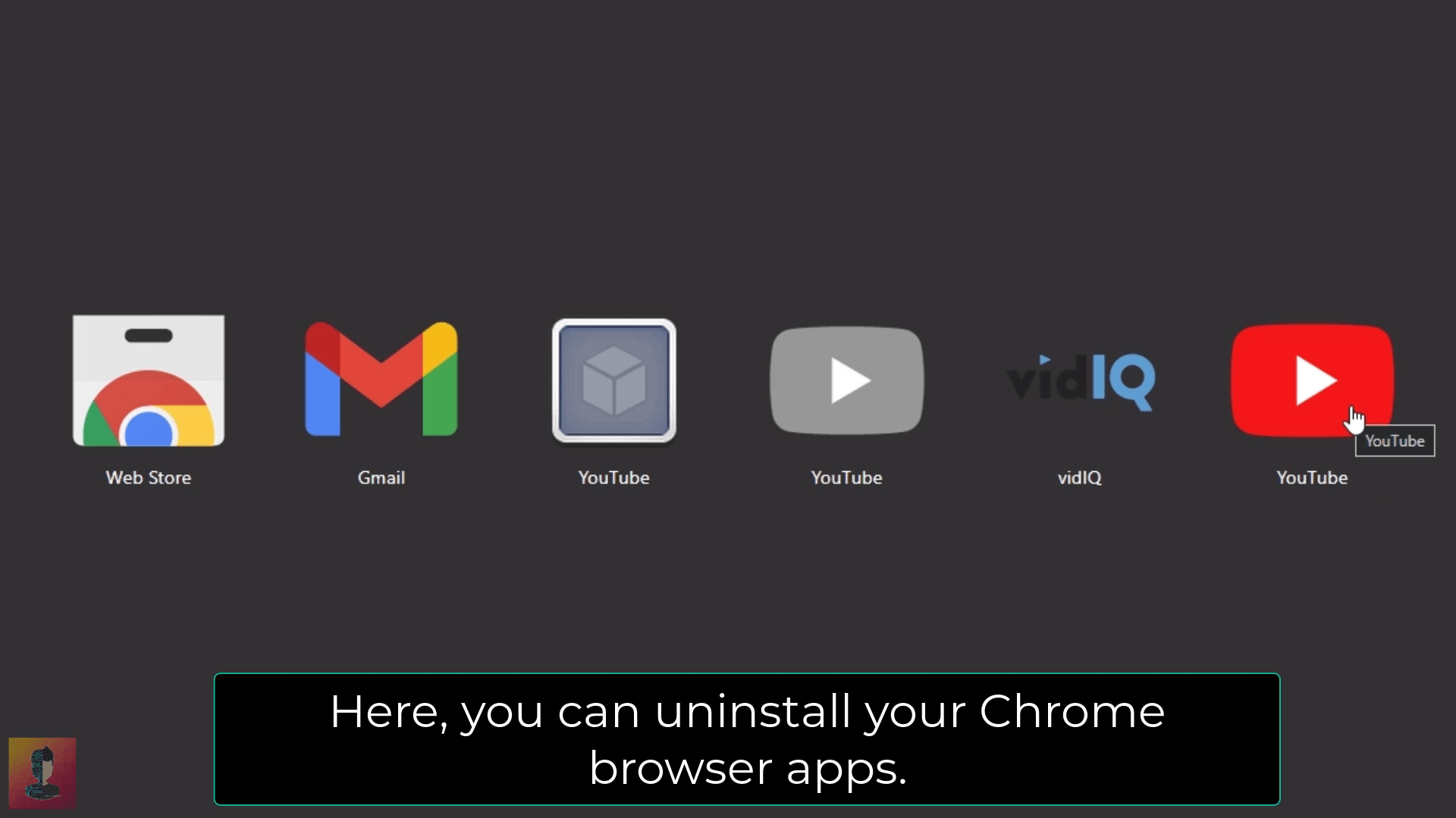 Step_03 to remove google chrome apps