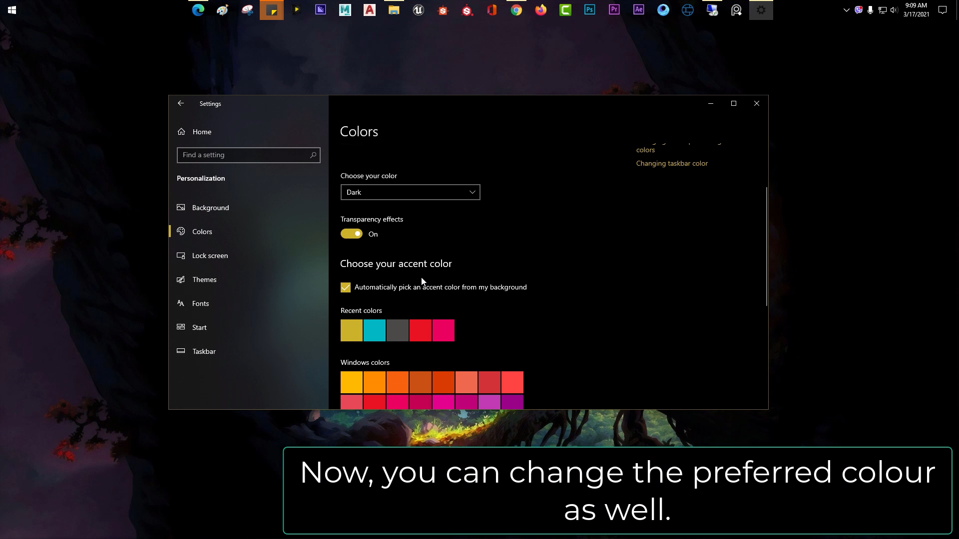 Activate Dark Mode on Windows 10