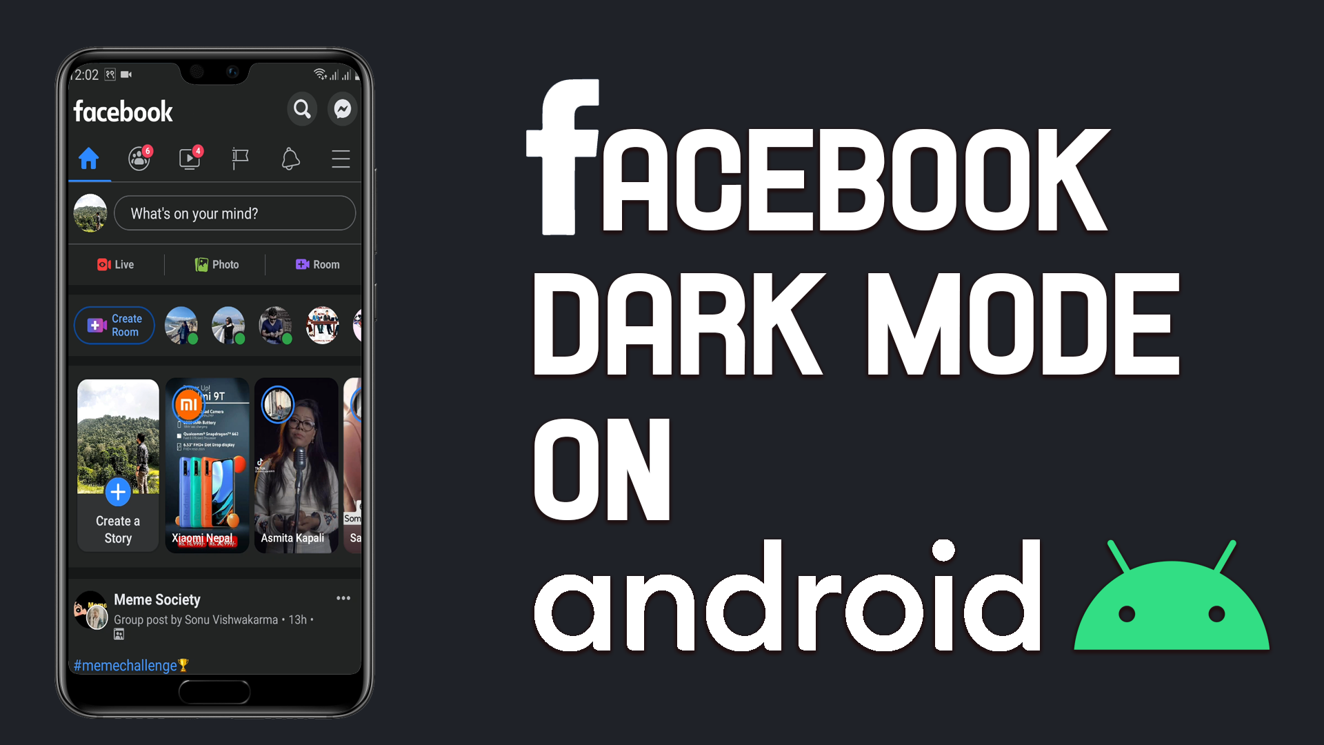 How to enable Dar Mode on Facebook