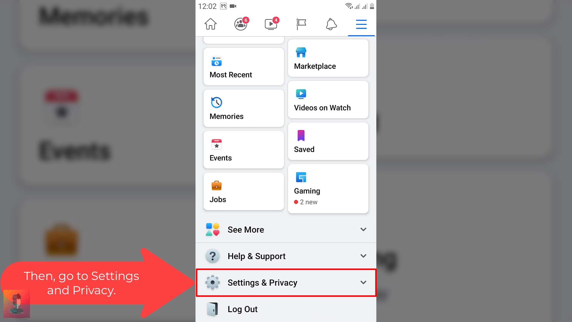 step_03 for how to enable Dark Mode on Facebook
