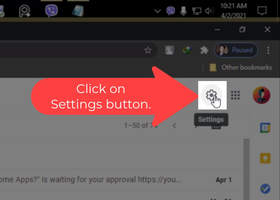 Step_04 How to enable Dark Mode on Gmail