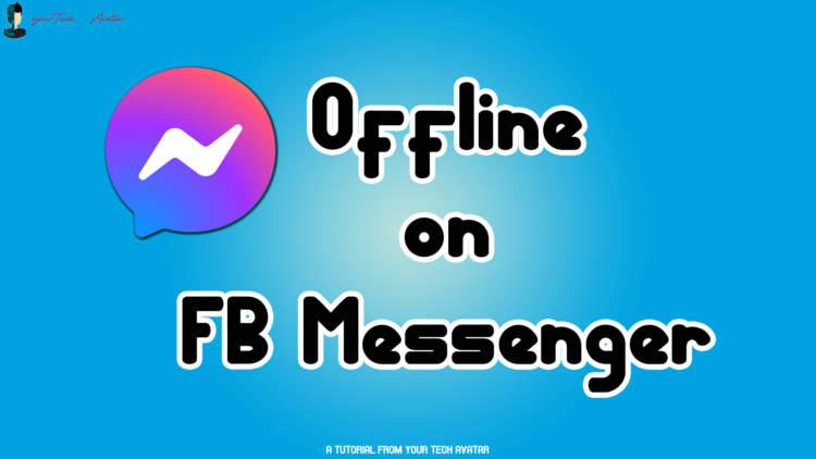 How to appear offline in messenger